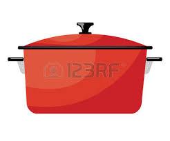dessin casserole cuisine casserole de dessin animé bleu avec couvercle ouvert sur un fond