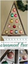 diy ornament display tree crates barrels and ornament