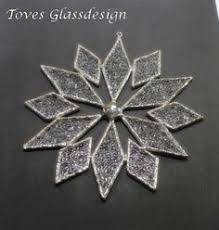 stained glass snowflake with bevels stained glass windows