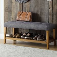 Wood Bench With Storage Acme Furniture Charla Wood Storage Bench U0026 Reviews Wayfair