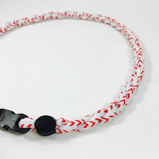 lace necklace images Baseball lace titanium necklace elite athletic gear jpg