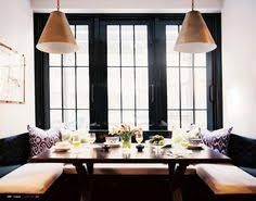 Dining Room Booth by Built In Seating And Photo Display Makes For Divine Dining