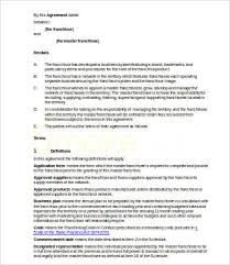 franchise agreements 8 free word pdf documents download free