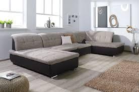wohnlandschaft u form mit schlaffunktion wohnlandschaft couchgarnitur xxl sofa u form weiss grau