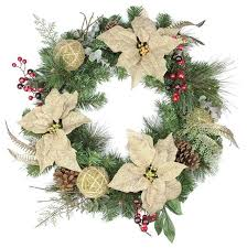 autumn harvest poinsettia wreath 24 traditional wreaths and
