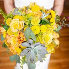 Yellow Pom Pom Flowers - yellow weddings bridebug flowers wedding bouquet pom pom