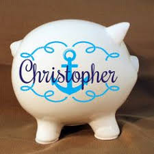 monogrammed piggy bank personalized piggy bank piggy bank piggy bank for boys monogrammed