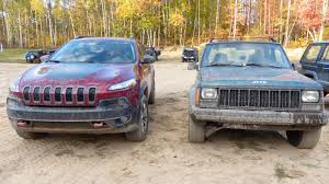 jeep trailhawk lifted which is better off road a brand new jeep cherokee or my old 600