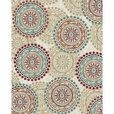 8 x 10 large ivory teal u0026 red area rug brookwood rc willey