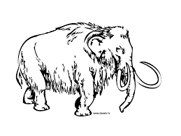 coloring mammoth