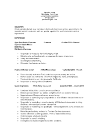 objective for resume examples entry level entry level phlebotomy cover letter sample image collections