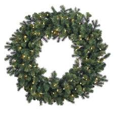 undecorated artificial new year wreaths 48 in pre lit led wesley