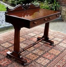 Mahogany Side Table with Antique Gillows Mahogany Writing Table Sn706