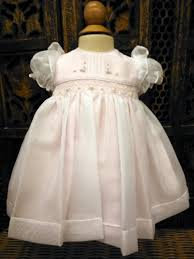 will beth pink sheer overlay smocked dress baby pearls newborn
