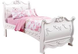 disney princess white 3 pc twin sleigh bed beds colors