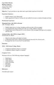 Editor Resume Sample by Copy Editor Resume U2013 Resume Examples