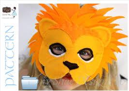 lion mask for kids lion mask pattern kids lion costume sewing pattern lion mask
