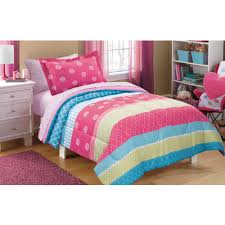 Comforters From Walmart Mainstays Kids Mix It Up Bed In A Bag Bedding Set Walmart Com