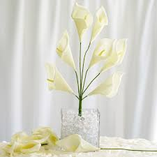 silk calla lilies 42 silk calla flowers 6 bushes artificial flowers wedding