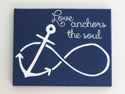 love anchors the soul nautical sign painted custom canvas