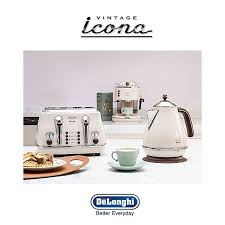 Kettle Toaster Offers Delonghi Icona Vintage Kettle U0026 Toaster Set Cream Kbov3001bg