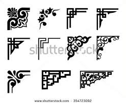 corner decorations free vector stock graphics images