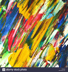 Colorful Painting by Colorful Paint Brush Strokes Background Stock Photo Royalty Free