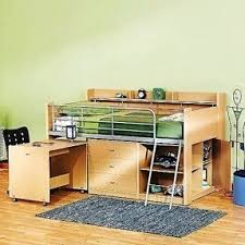 Storage Loft Bed With Desk Best 50 Bunk Beds With Desk And Storage Foter