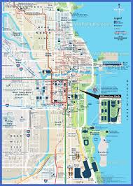 chicago tourist map chicago map tourist attractions map travel vacations