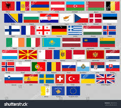 European Flags Images All Flags Europe Correct Size Proportion Stock Vector 759125113