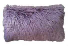 Faux Fur Throw Pillow Rosdorf Park Alanna Faux Mongolian Lumbar Pillow U0026 Reviews Wayfair