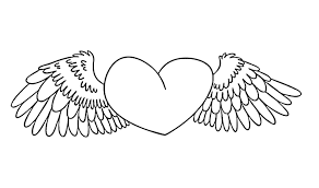 cute heart with wings coloring pages printable coloringstar