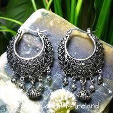 creole earrings tibetan silver bohemian creole earrings spiritual gifts