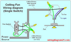 Ceiling Fan And Light Switch Ceiling Fan Wiring Diagram 1 For The Home Pinterest Wiring