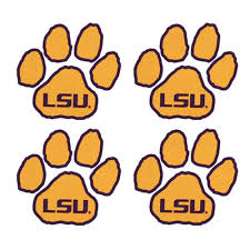 lsu tigers temporary tattoos paw