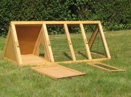 Pet Hutch Pet Hutch Run Cage Wooden Enclosure Triangular Steel Mesh Rabbits