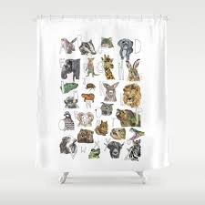 Animal Shower Curtain Animal Shower Curtains Shelly Shower By Catherine Holcombe Fabric