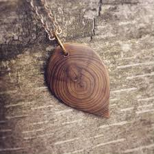 wood jewelry necklace images Raw wood necklace cedar leaf necklace handmade wooden jewelry jpg