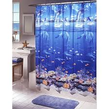 Themed Shower Curtains Colorful Blue Themed Shower Curtain Best House Design