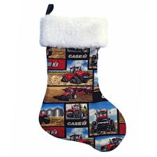 tractors christmas stocking