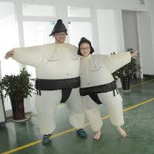 cute kids inflatable sumo costume suit with battery operated fan