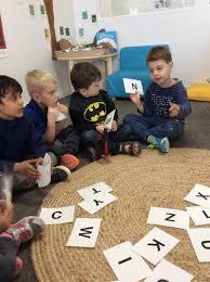 kool kidz preston childcare kindergartners busy learning new skills