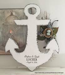 beachy signs anchor wedding guestbook nautical guestbook guest book