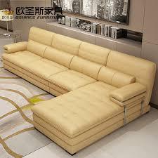 canape jaune cuir jaune en cuir sofa sectionnel ensemble métal cadre canapé en cuir