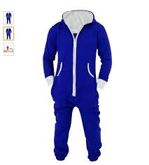 blue jumpsuit mens winter s plus size home pajamas one onesie mens
