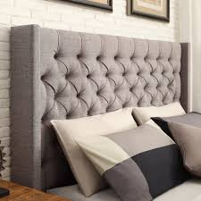 skyline furniture velvet king tufted wingback bed light gray bedroom headboard silver headboard tufted king velvet wingback