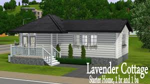 the sims 3 house building lavender cottage starter home youtube