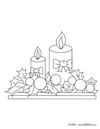 candle ornaments coloring pages hellokids com