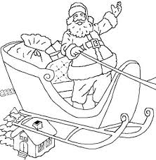 happy santa coloring pages for kids printable free christmas
