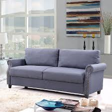 Classic Livingroom Amazon Com Classic Living Room Linen Sofa With Nailhead Trim